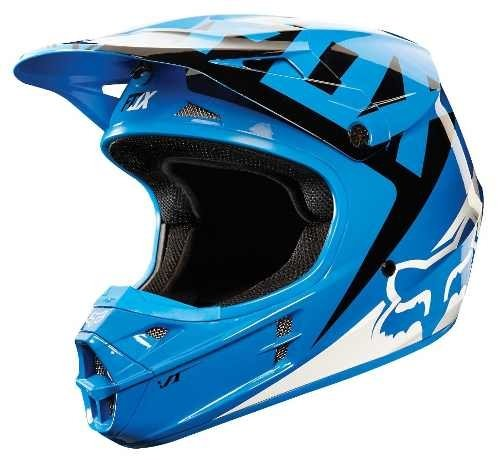 Casco Fox V1 Vandal Azul Negro Blanco Cross Atv Marelli