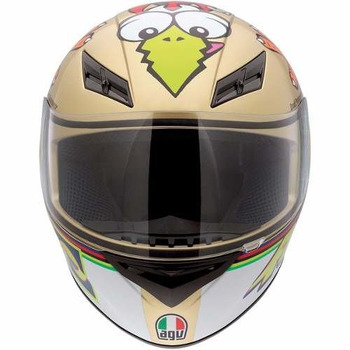 Casco Agv K3 The Chicken Vr46 Visor Transp Marellisports - Marelli Sports