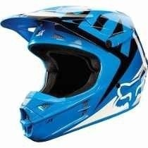 Casco Fox V1 Vandal Azul Negro Blanco Cross Atv Marelli en internet