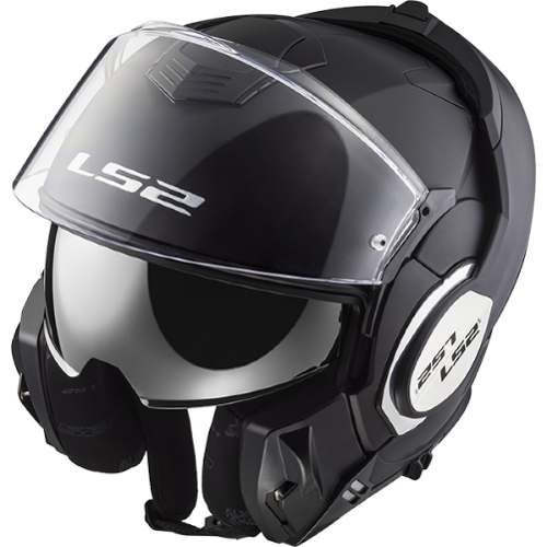 Casco Modular Ls2 399 Valiant Negro Mate Marelli Sports