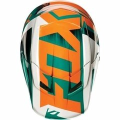 Casco Fox V1 Vandal Verde Naranja Blanco Cross Atv Marelli en internet