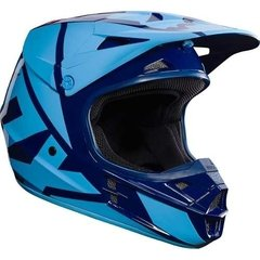 Casco Fox V1 Falcon Navy Azul Celeste Marelli Sports