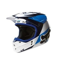 Casco De Fox V1 Mako Blue Azul Blanco Marelli Sports