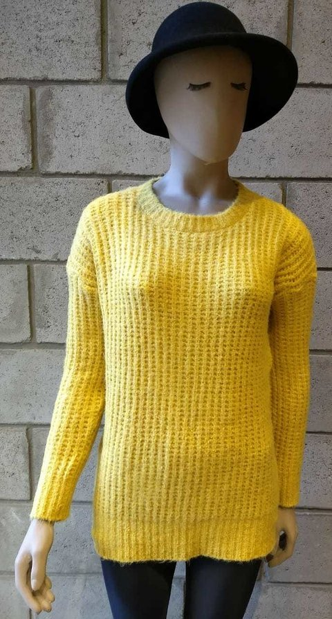 Sweater perleé escote redondo 7097