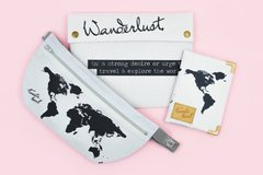 Super Travel Kit Wanderlust (Porta pasaporte + Porta valores + Porta documentos)