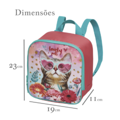 Kit Escolar Mochilete Lancheira Estojo Lovely Pets Original 945B01 945B11 945B13 na internet