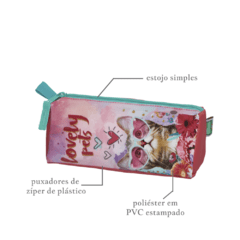 Kit Escolar Mochilete Lancheira Estojo Lovely Pets Original 945B01 945B11 945B13