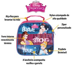 Imagem do kit escolar princesas disney - mochilete + lancheira 30394 30392