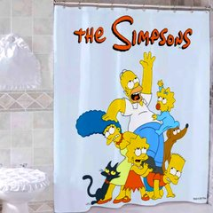 Cortina Baño Simpsons Locos