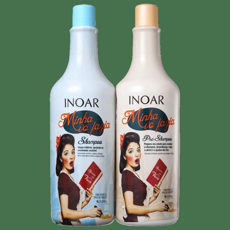 2335959a4 Kit Minha Vó Fazia Inoar Shampoo e Pré-Shampoo 1 Litro