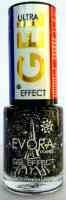 EVORA FRANCE GEL EFFECT - MANON 7 ML DECORATIVO PRETO E DIAMANTE