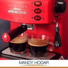 Cafetera Express Electrica Ultracomb Ce-6108 15bar Espumador - Mandy Hogar