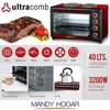 Horno Ultracomb 40 Lts Doble Anafe Uc40ac + Cuotas + Envio en internet