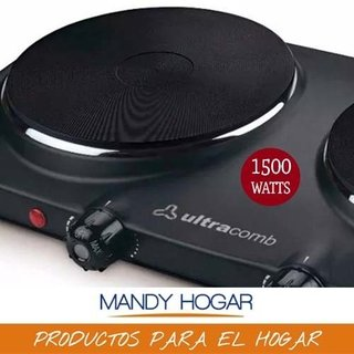Anafe Eléctrico Ultracomb An-6600 Doble Hornalla 1500w 750w - comprar online
