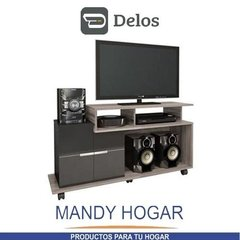 Rack Mueble Mesa Tv Slim Lcd Led Audio Home Sena Mandy Hogar - comprar online