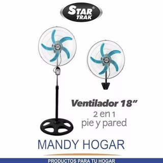 Ventilador Star Trak 18 Pie Y Pared 2 En 1 Mandy Hogar en internet