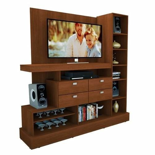 Rack Modular Tv Led Mosconi 126  Hasta 55   180x45x185 Cm