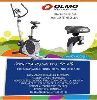 Bicicleta Fija Olmo Fitness 210 Asiento Regulable Pulso New - comprar online