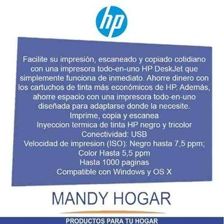 Impresora Hp 2135 Deskjet Multifuncion Escaner Copia - Mandy Hogar