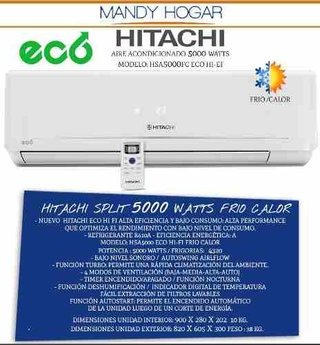 Aire Acondicionado Split Hitachi 5000 Watts Eco Frio Calor A en internet