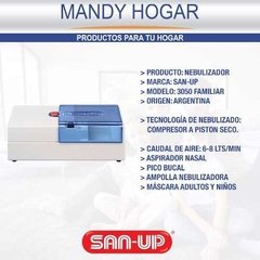 Nebulizador San Up Piston 3050 Familiar Sidestream® Ampolla - Mandy Hogar