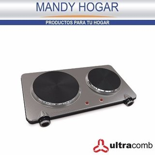 Anafe Electrico Ultracomb An8800 2 Hornallas Aceroinox 2250w - Mandy Hogar