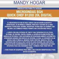 Microondas Bgh Quick Chef B120 Digital 700w Mandy Hogar en internet