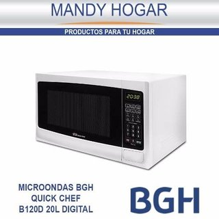 Microondas Bgh Quick Chef B120 Digital 700w Mandy Hogar - Mandy Hogar