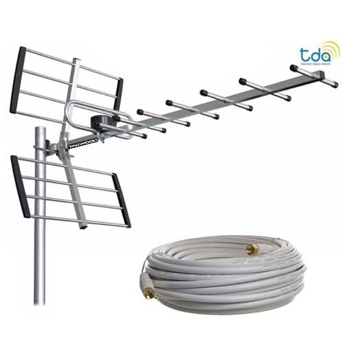 Antena Externa Tv Digital Tda Tagwood Ant01 20 Mts Cable