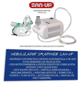 Nebulizador Smartneb San-up 3003 Motocompresor A Pistón Port - comprar online