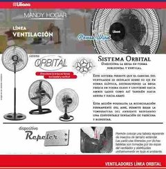 Ventilador De Pie Orbital 20  Liliana Vptcm2016 Repeler Off en internet