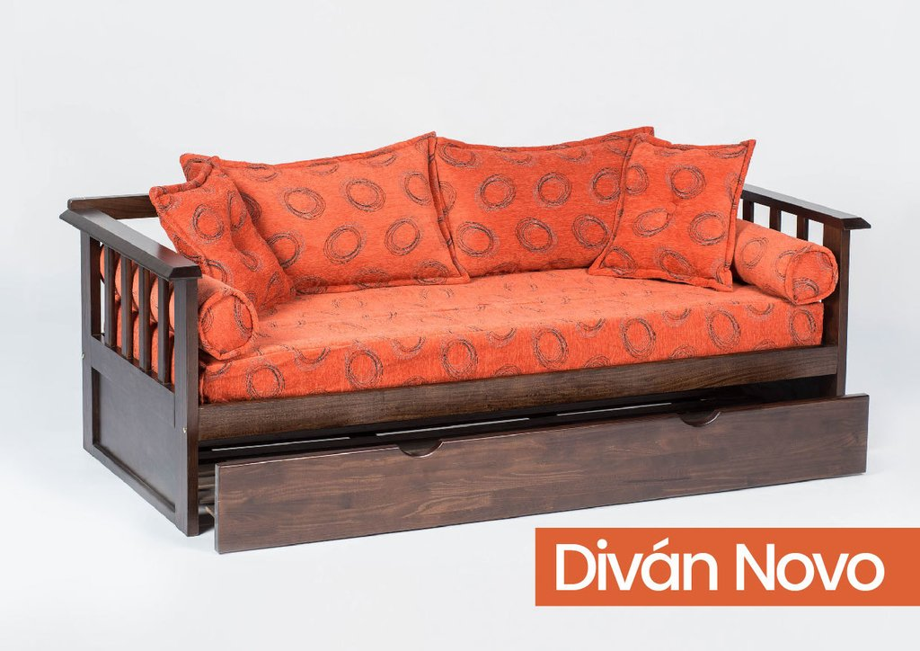 Divan Novo Con Carro Cama Marca Color Living