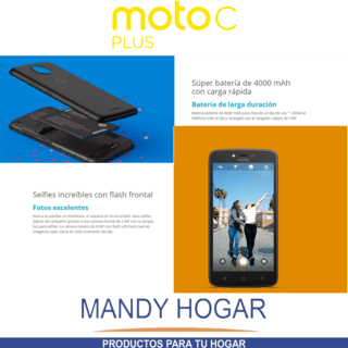 Celular Motorola Moto C Plus 16gb Quad Core 4g Mandy Hogar en internet