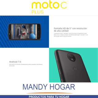Celular Motorola Moto C Plus 16gb Quad Core 4g Mandy Hogar - Mandy Hogar