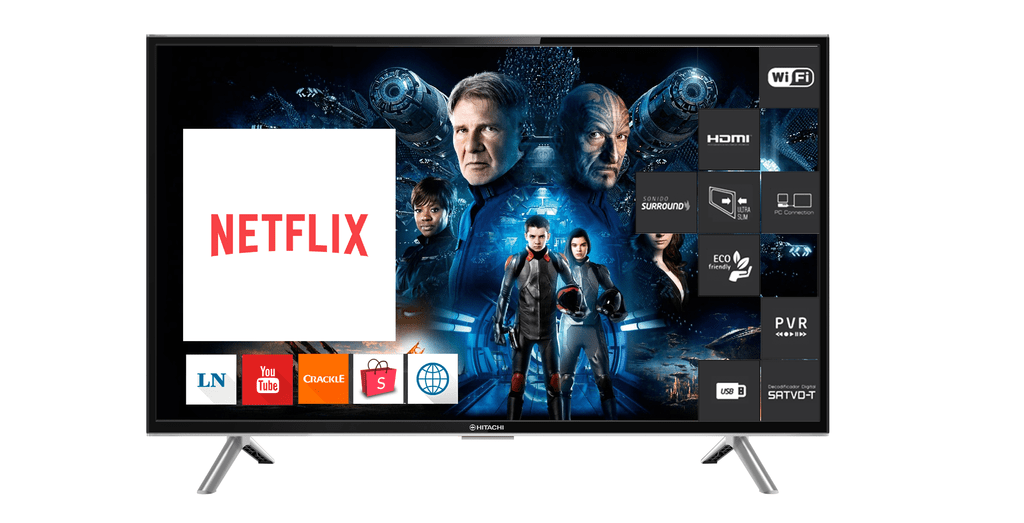 Smart Tv Hitachi 32 Led Le32smart10 Hdmi3 Usb2 Tda Netflix