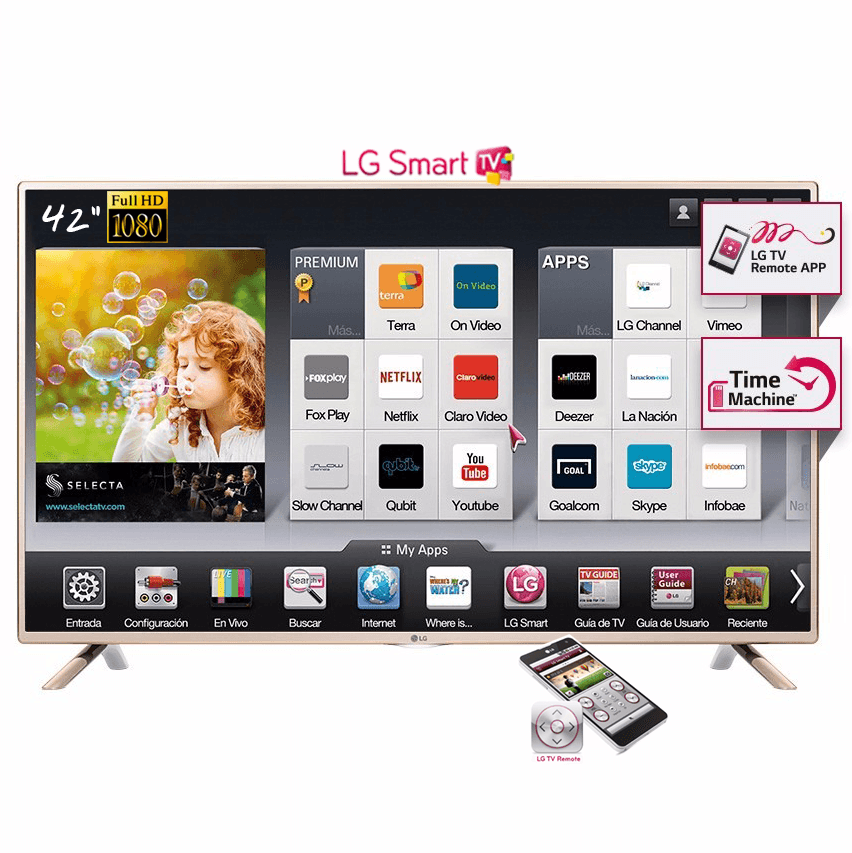 Smart Tv Led Lg 42 Full Hd 42lf5850 Time Machine Ips Netflix Hdmi