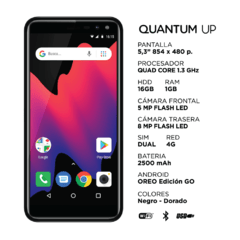 "Celular Quantum UP 5,3"" Quad-Core 16GB 8MP en internet"