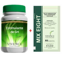MIX EIGHT 10 gr + Composto auxiliar no aumento do GH em cápsulas