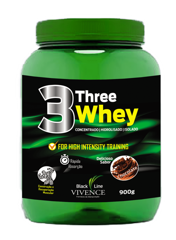 Three Whey - Concentrado, Isolado e Hidrolizado