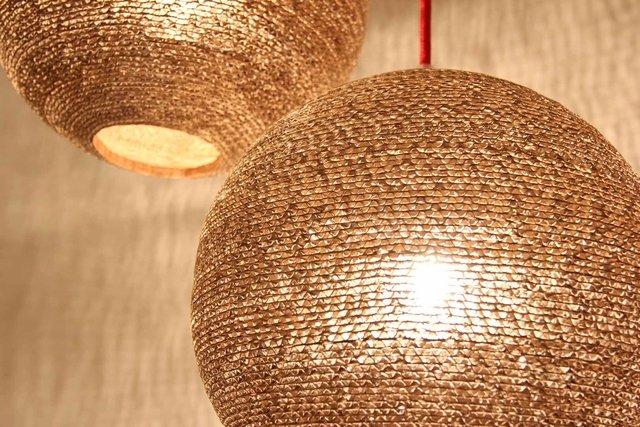lamparas de diseo originales estepa trama cartn corrugado