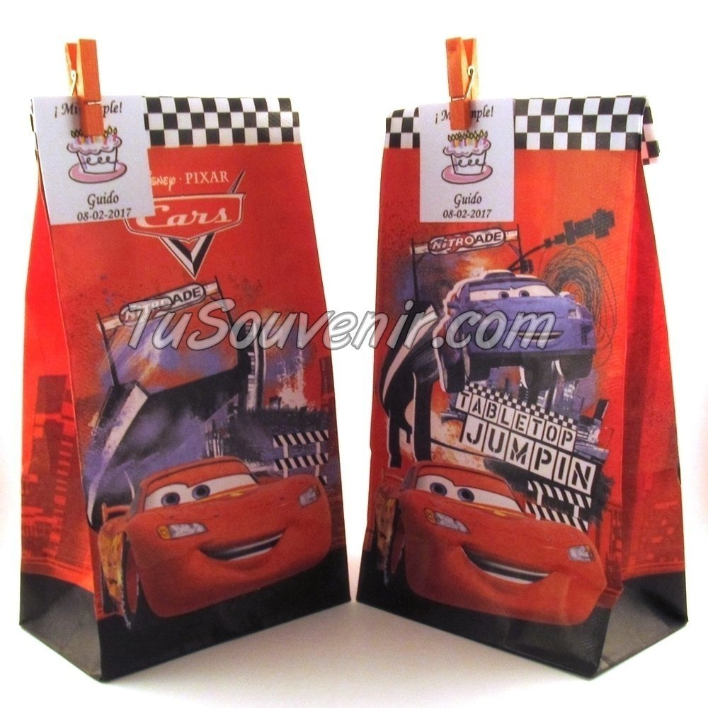 04ec6dc7d Bolsa De Papel Cars Ideal Para Souvenirs Y Regaleria