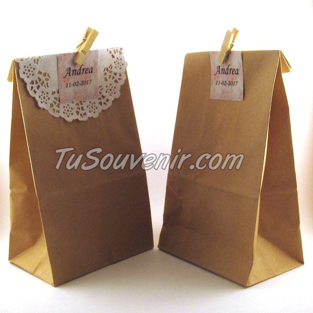 ff0dd05a9 Bolsa De Papel Madera Kraft Ideal Para Souvenirs Y Regaleria