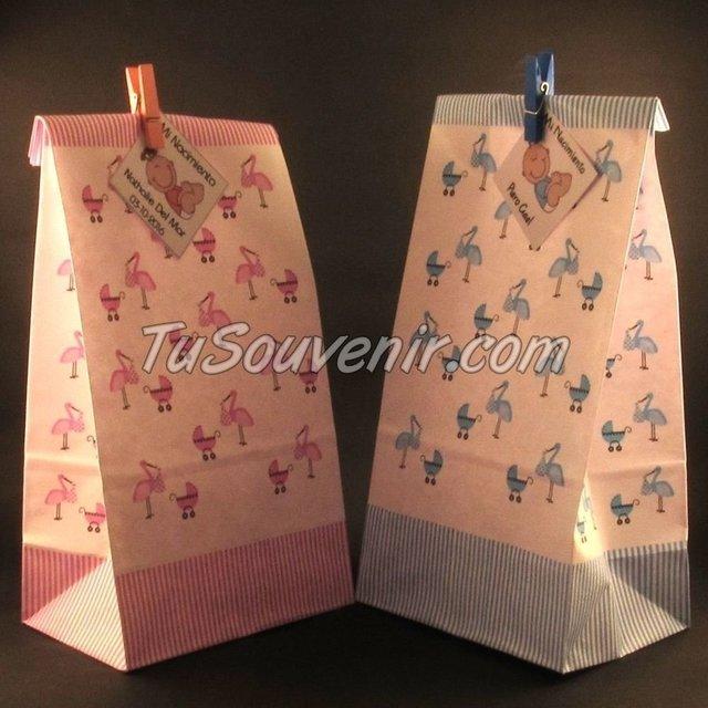 34eed462d Bolsa De Papel Baby Shower De Nena Ideal Para Souvenirs Y Regaleria