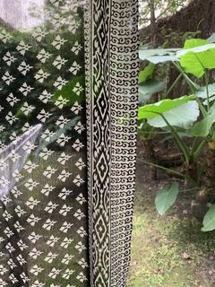 Cortinas saree negro