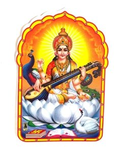 Sticker Saraswati
