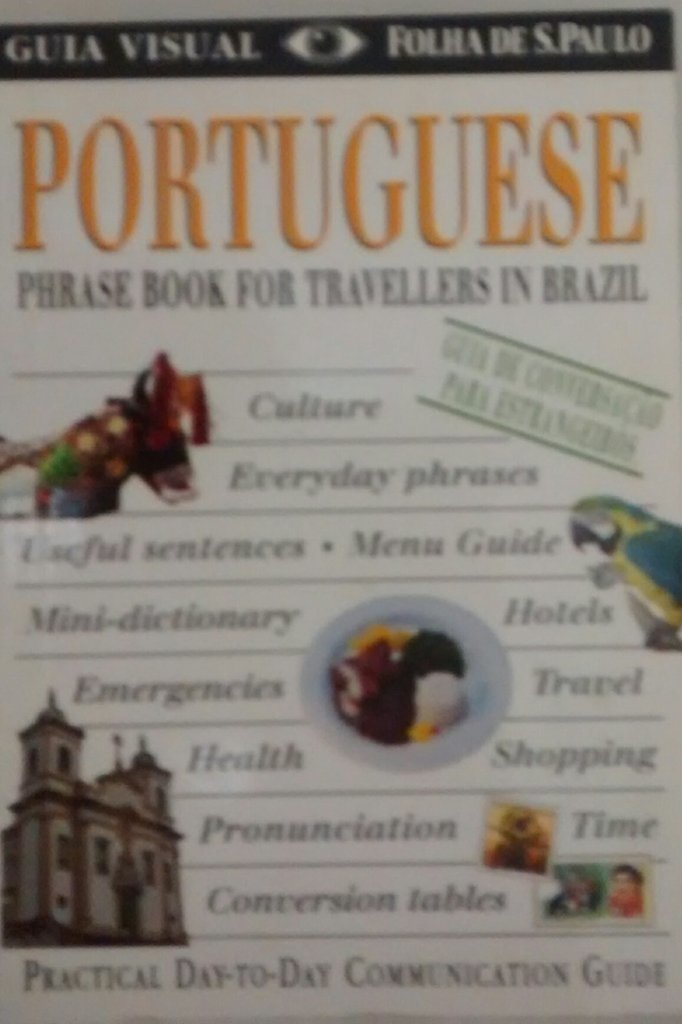 Portuguese phrase book for travelers in Brazil