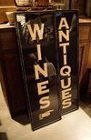 CUADRO VINTAGE CHICO - DISEÑO ANTIQUES/ BOOKS/ WINES