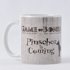 Caneca PINSCHER IS COMING Porcelana 325ml