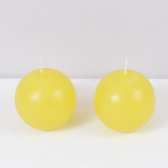 Duo Vela Bola CANDY YELLOW 8x8cm