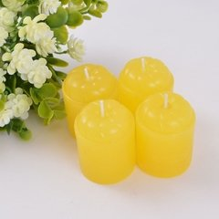Kit 4 Velas Mini-torre CANDY YELLOW